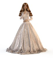 v-ray wedding evening dress 3D