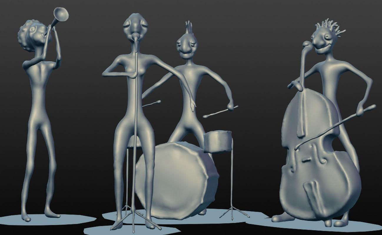 3D jazz band