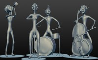 3D jazz band