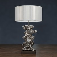 3D libero silver table lamp