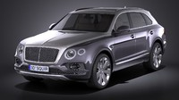 3D bentley bentayga mulliner