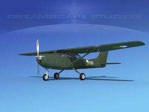 3D propellers cessna t-41 mescalero model