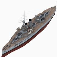 3D battleship iron duke class