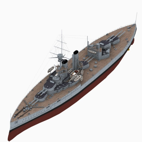 ww1 battleship king george 3D model