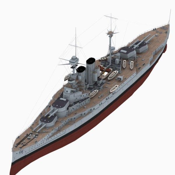 battleship queen elizabeth class 3d