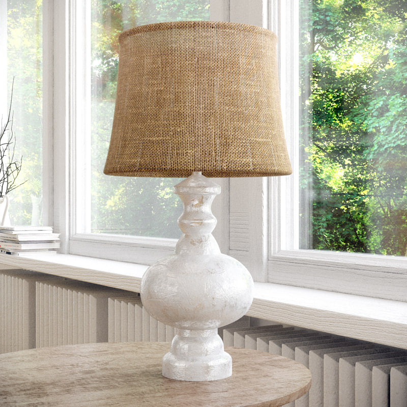 Pottery Barn Montclair Lamp: 3D Bedside Lamp Pottery Barn