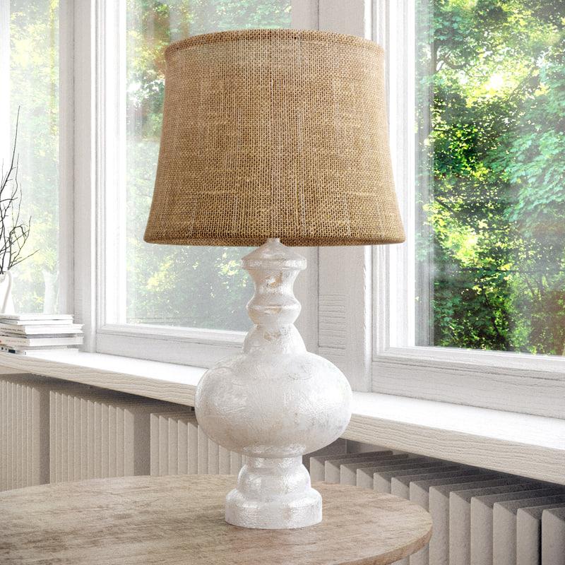 3D bedside lamp pottery barn