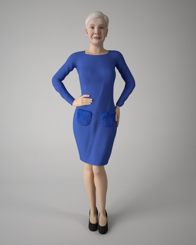 body business woman 3D model