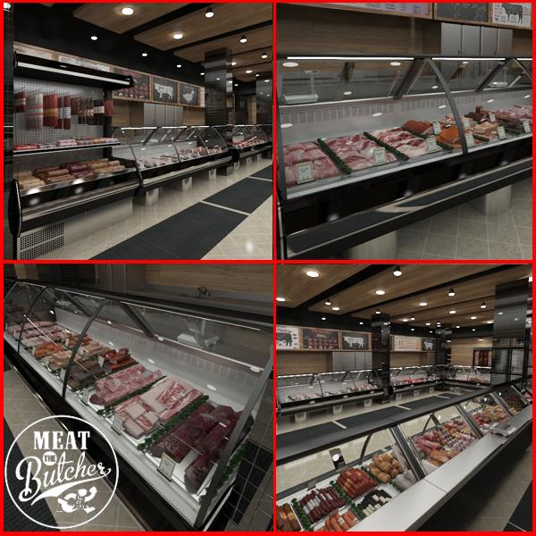 hd food butcher shop 3D model
