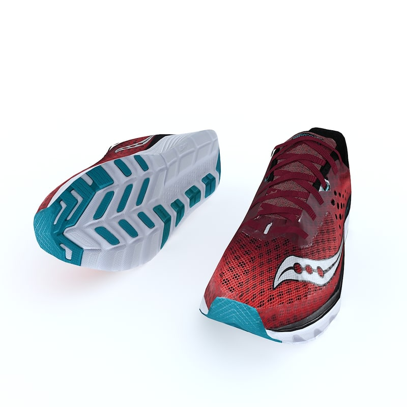 running saucony kinvara 8 3D model