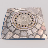 photo scanned manhole model