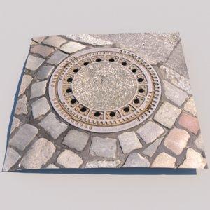 photo scanned manhole model