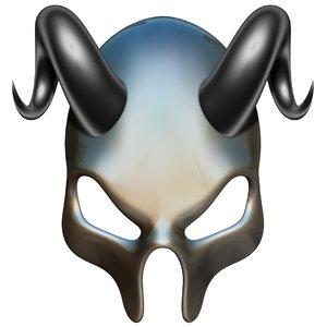 3D model skull mask