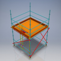 mobile scaffolding 3D
