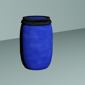 3D ready plastic barrel model
