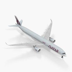 airbus a350-1000 qatar model