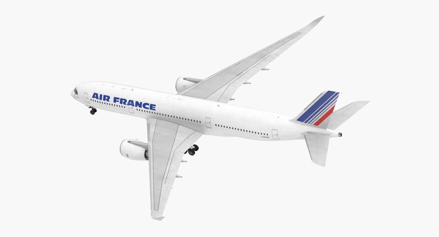 3D airbus a350-900 air france