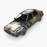3D burned car