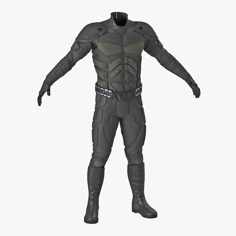 3D futuristic soldier uniform model