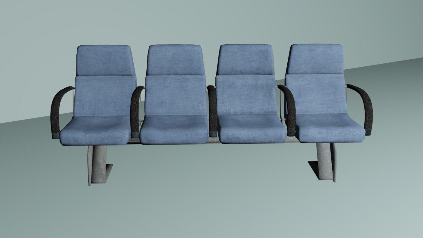office bench 3D model