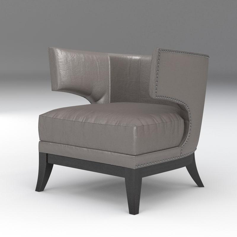 3D grey studded modern model