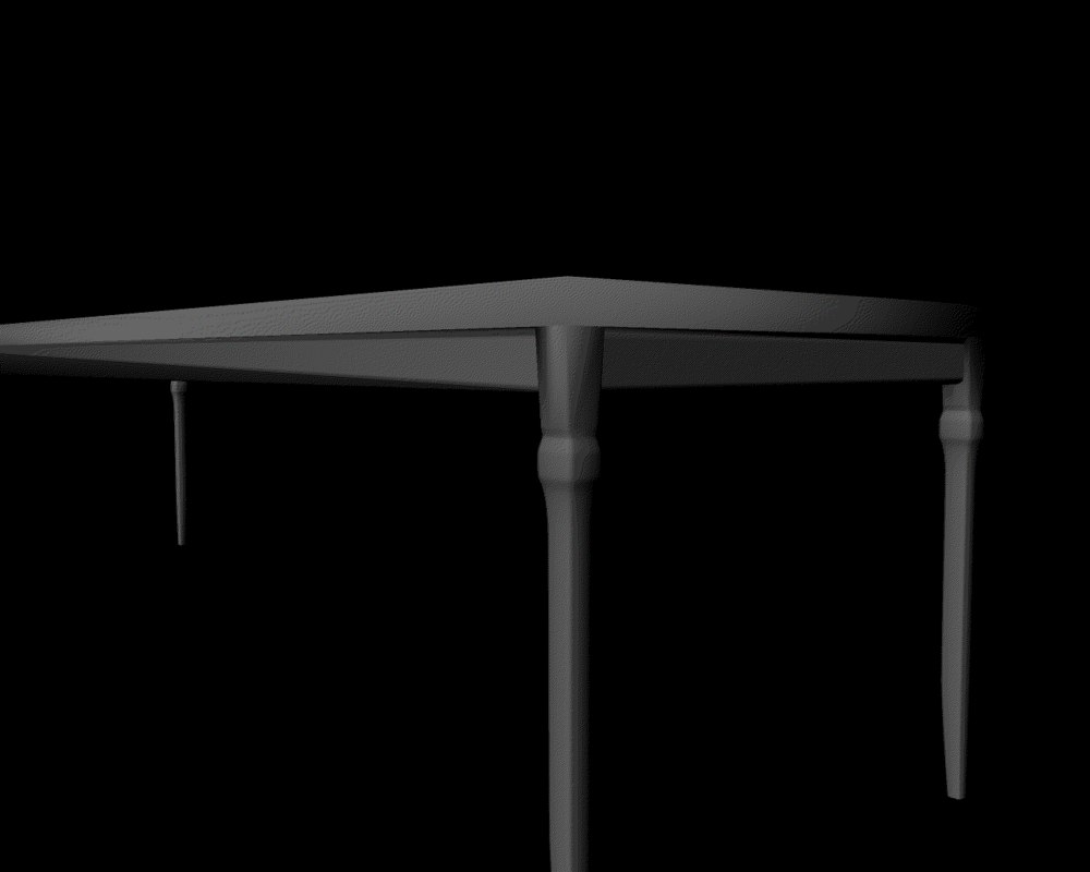 table untextured 3D model