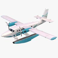 3D seaplane dhc-6 arnold model