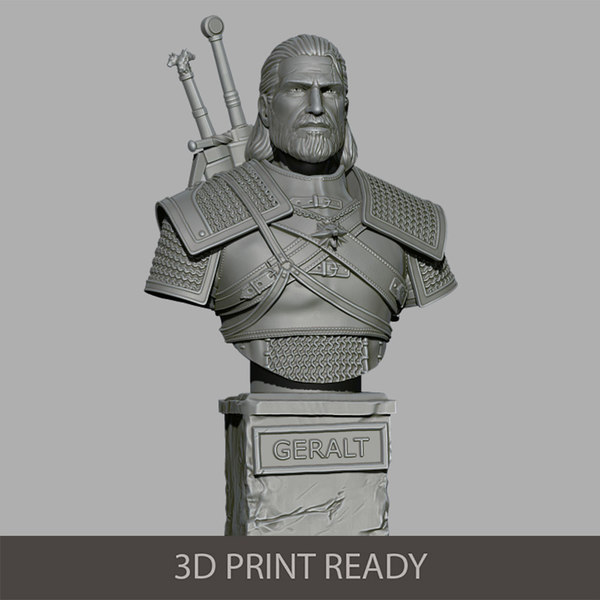 3D geralt bust model