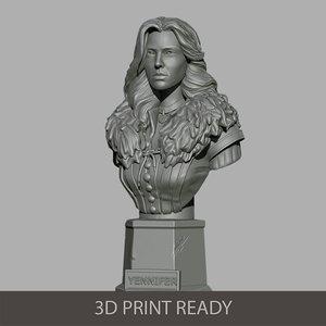 3D yennifer bust