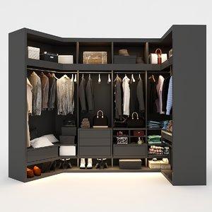 3D wardrobe clothes model