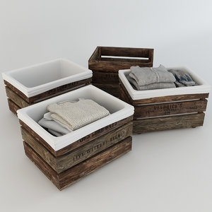 wooden box things 3D