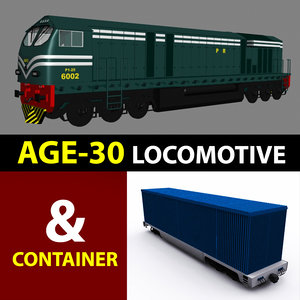 german locomotive 3D