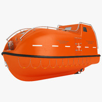 3D lifeboat life boat model