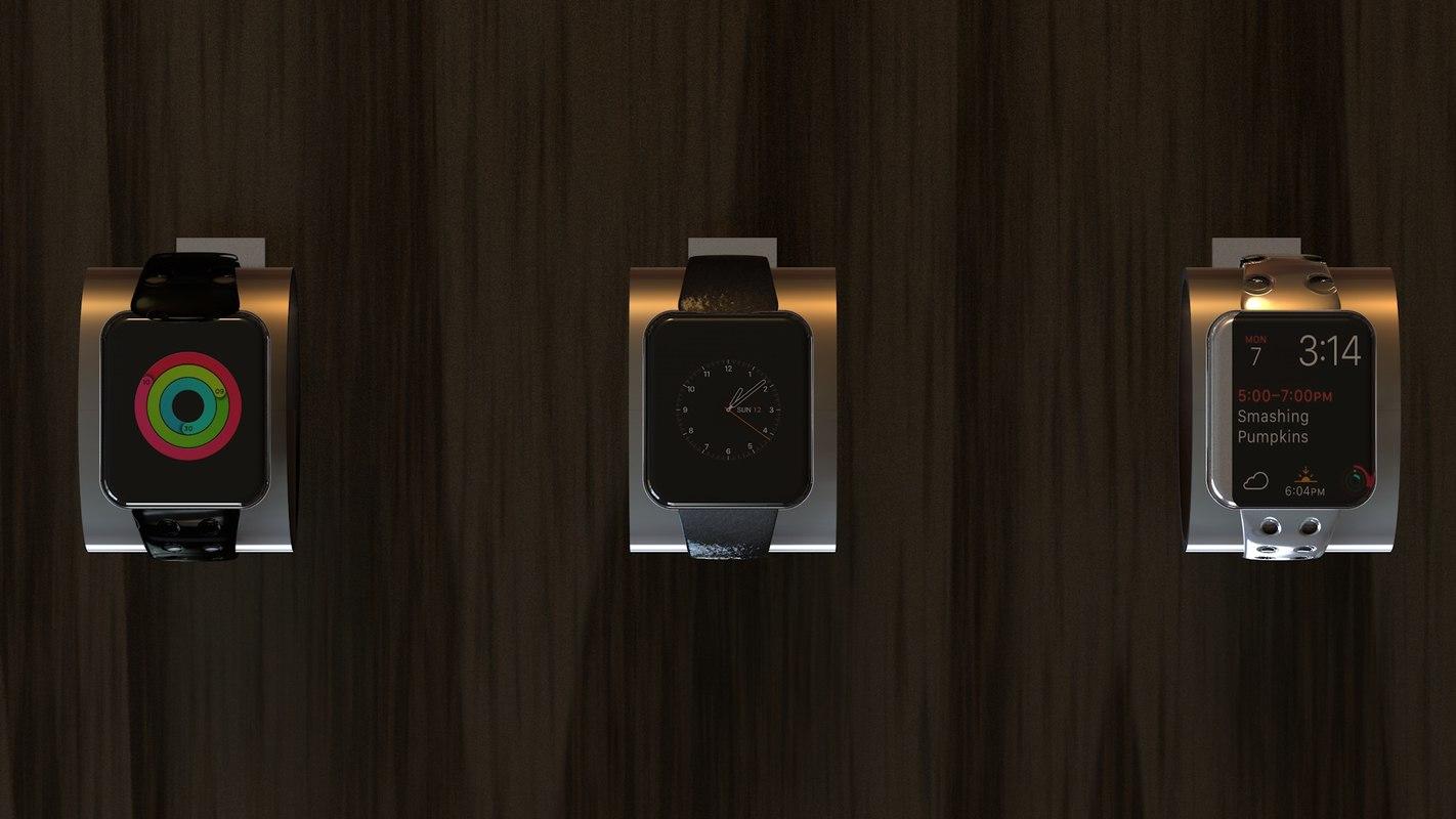 3D apple watch series 2