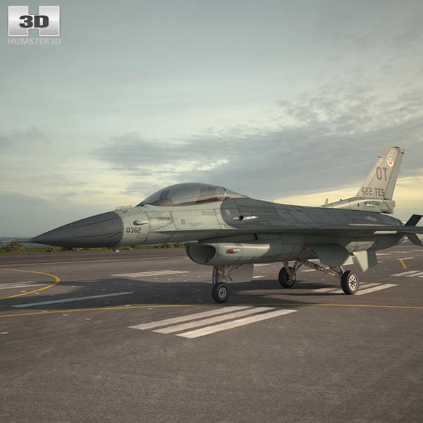 f-16 f 16 3D model