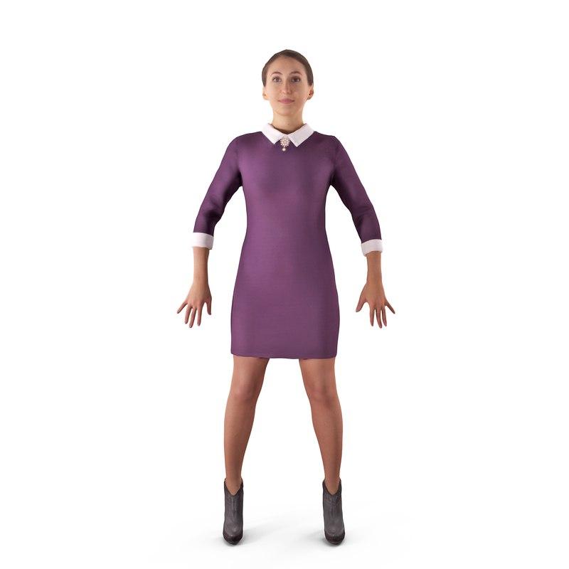 casual woman apose human body model