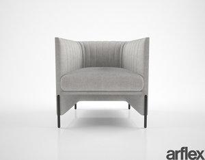 3D model arflex algon armchair