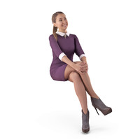 casual woman human body 3D model