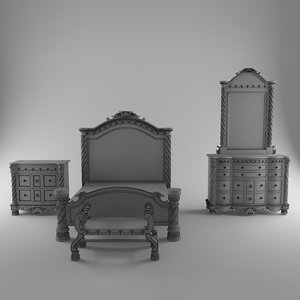 3D total classic bed table