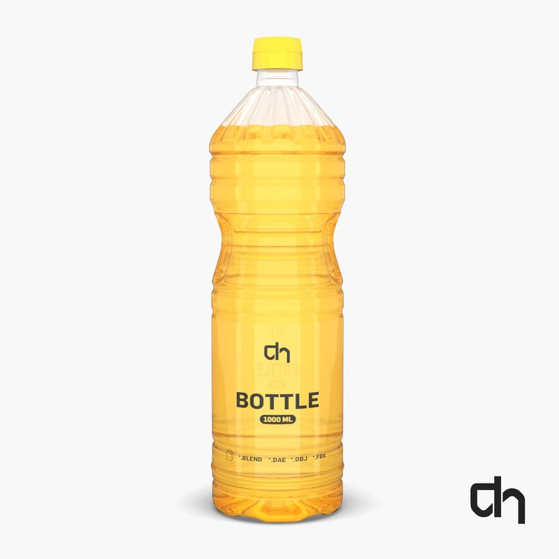 plastic oil bottle 3D model