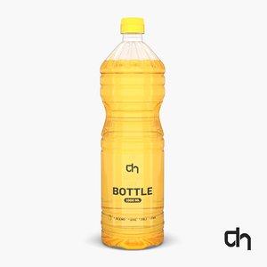plastic oil bottle 3D model