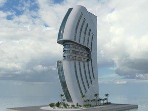 3D building sci fi model