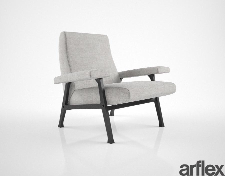 arflex hall poltrona 3D