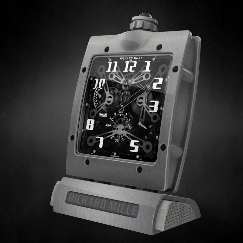 3D richard mille pocket watch
