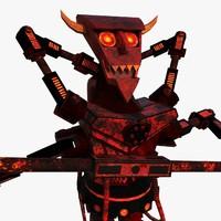 daemon robot 3D