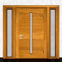 3D wooden door model