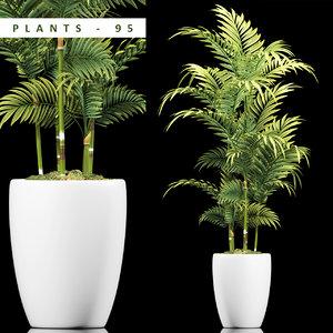 3D model plant modern pot