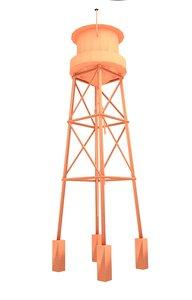 3D blender water tower