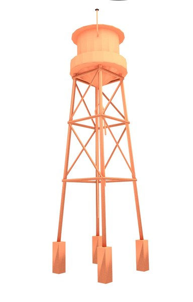 3D blender water tower