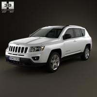 jeep compass 2012 3D model